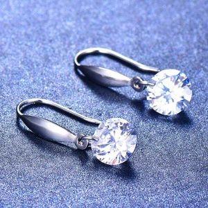 925 Sterling silver crystal earrings